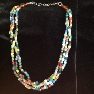 Jewelry - Multicolor glass bead necklace